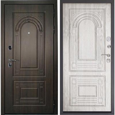 Входная дверь Дверной континент ФЛОРЕНЦИЯ орех мокко/белёный дуб
